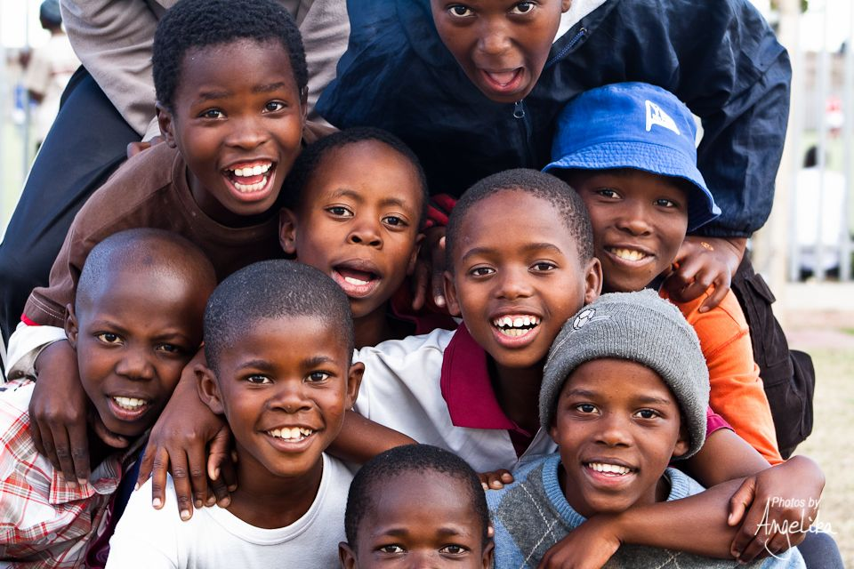 volunteer with children in sa